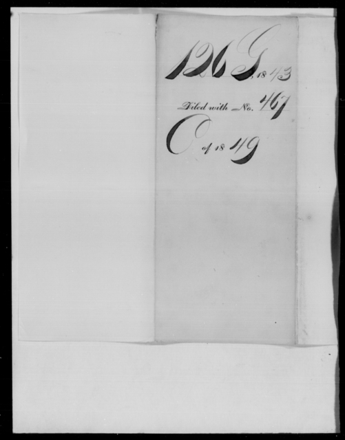 Gaines, Edmund Pendleton - State: District of Columbia - Year: 1843 - File Number: G126