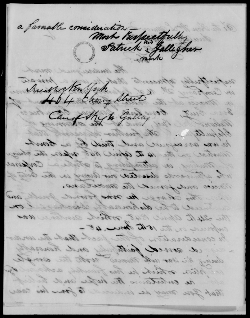Gallagher, Patrick - State: New York - Year: 1848 - File Number: G382