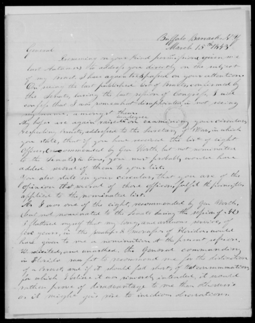 Garland, [Blank] - State: New York - Year: 1843 - File Number: G236