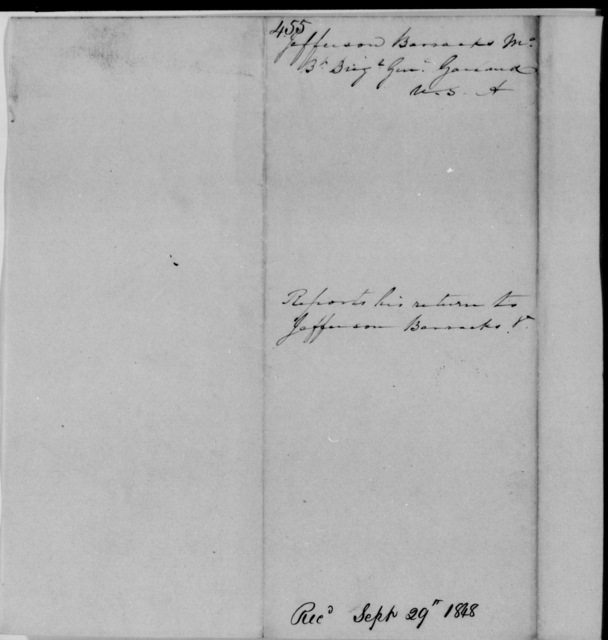 Garland, Jno - State: Missouri - Year: 1848 - File Number: G455