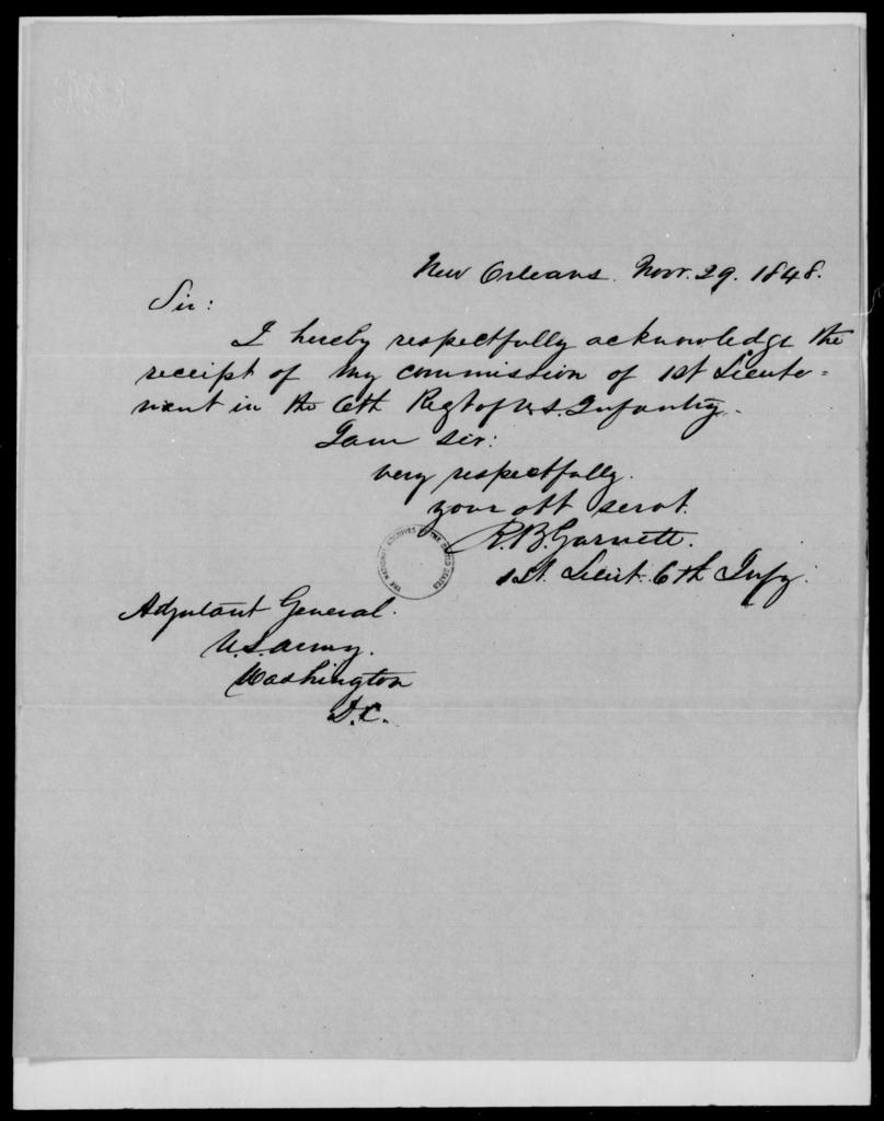 Garnett, R B - State: [Blank] - Year: 1848 - File Number: G570