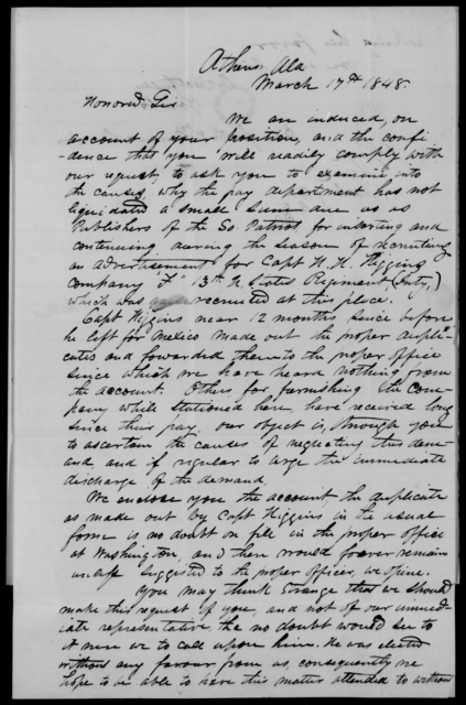 Gayle, John - State: Alabama - Year: 1848 - File Number: G121