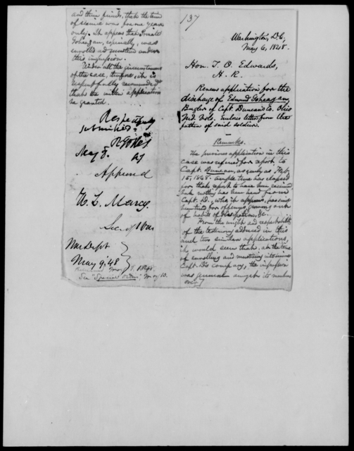 Geohegan, Edmund - State: District of Columbia - Year: 1848 - File Number: G137