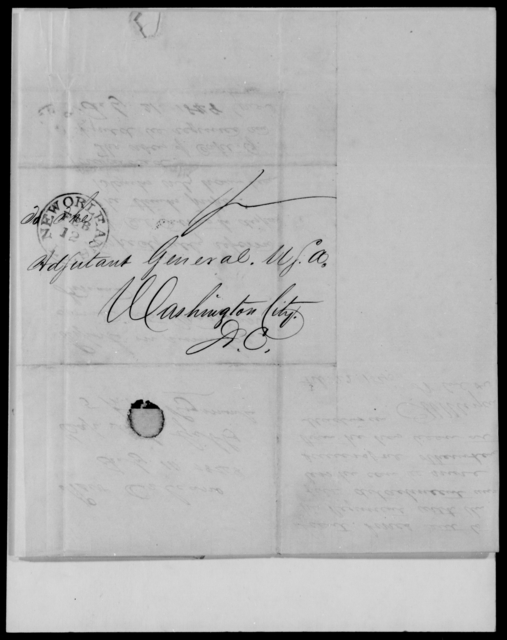 Gibbs, A C - State: District of Columbia - Year: 1848 - File Number: G64
