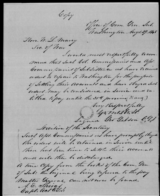 Gibson, Geo - State: Washington - Year: 1848 - File Number: G493