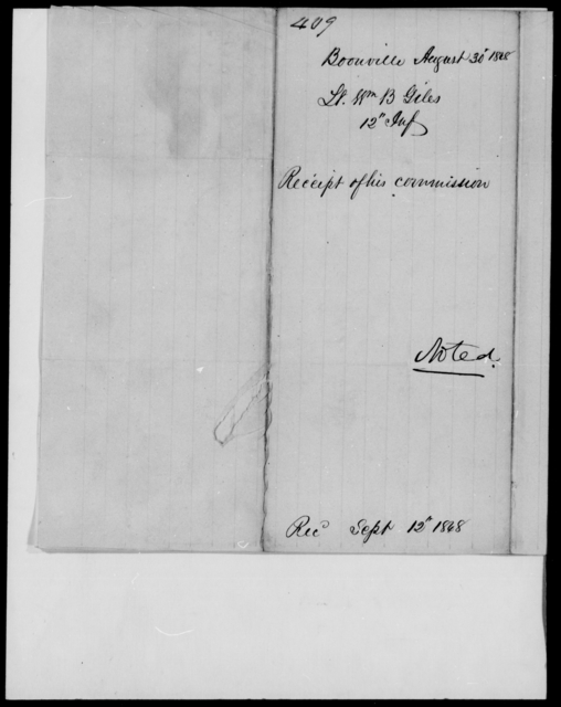 Giles, Wm B - State: [Blank] - Year: 1848 - File Number: G409