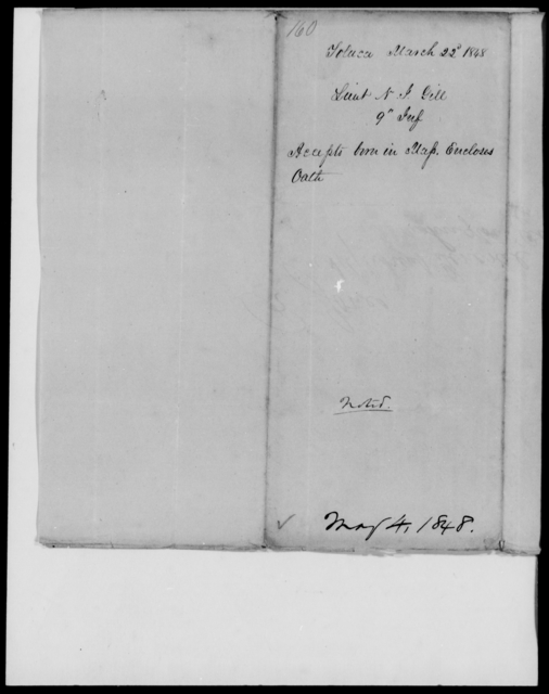 Gill, Nathaniel I - State: Massachusetts - Year: 1848 - File Number: G160