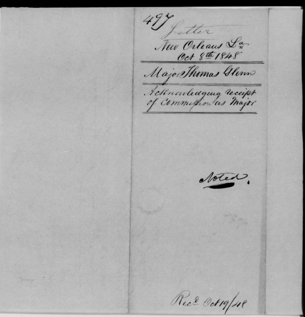 Glenn, Thomas - State: Louisiana - Year: 1848 - File Number: G497