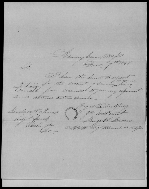 Gordon, George H - State: Massachusetts - Year: 1848 - File Number: G580
