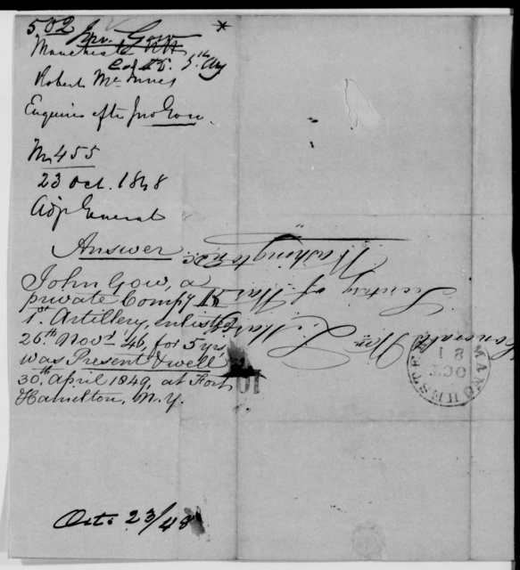 Gow, John - State: New Hampshire - Year: 1848 - File Number: G502