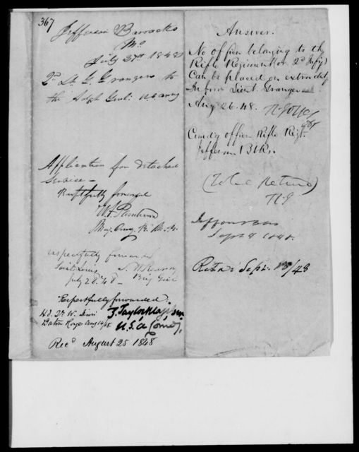 Granger, G - State: Missouri - Year: 1848 - File Number: G367