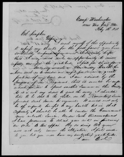 Grant, N - State: Washington - Year: 1848 - File Number: G106