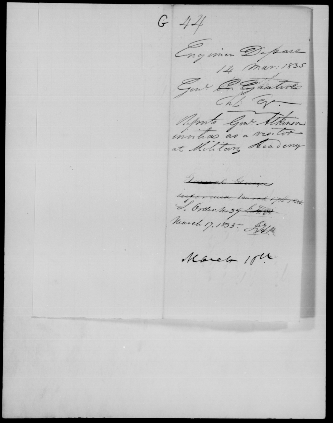 Gratiot, C - State: [Blank] - Year: 1835 - File Number: G44