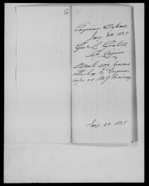 Gratiot, C - State: Louisiana - Year: 1835 - File Number: G11