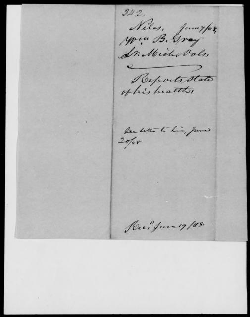 Gray, Wm B - State: Michigan - Year: 1848 - File Number: G242