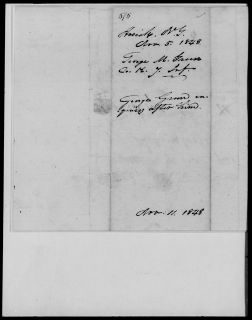 Green, George M - State: New York - Year: 1848 - File Number: G575