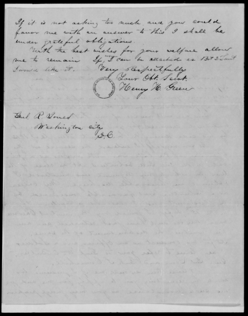 Green, Henry H - State: [Blank] - Year: 1848 - File Number: G302