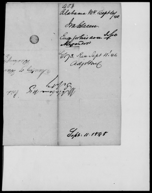 Green, Ira - State: New York - Year: 1848 - File Number: G403