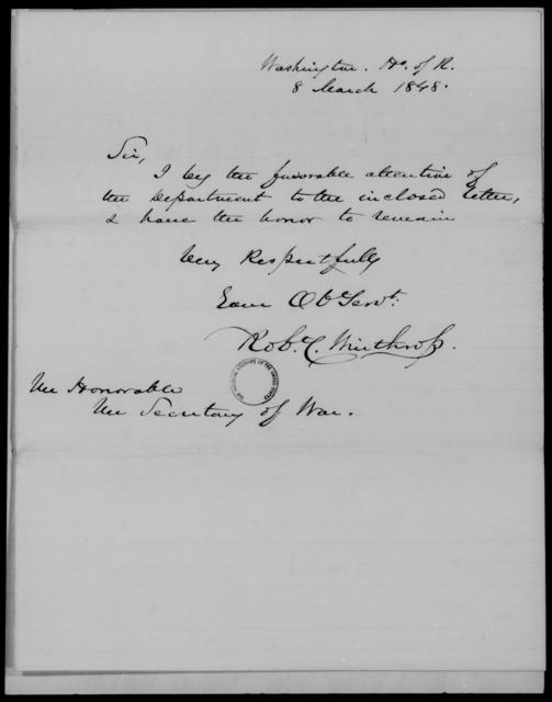 Green, John M - State: Washington - Year: 1848 - File Number: G89
