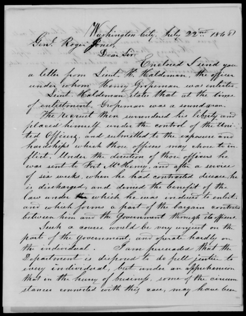 Gropeman, Henry - State: District of Columbia - Year: 1848 - File Number: G289