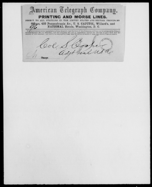 Hallonquist, James H - State: District of Columbia - Year: 1860 - File Number: H309