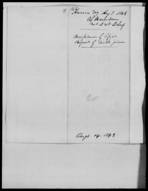 Hamilton, S - State: New York - Year: 1843 - File Number: H166