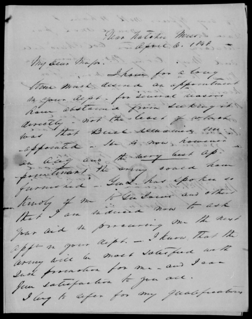 Hammond, R P - State: Mississippi - Year: 1848 - File Number: H239