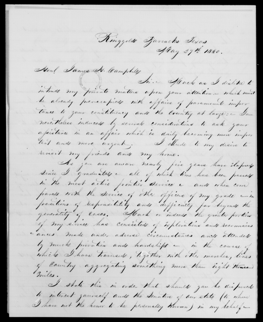 Hartz, Edwd L - State: Texas - Year: 1860 - File Number: H206