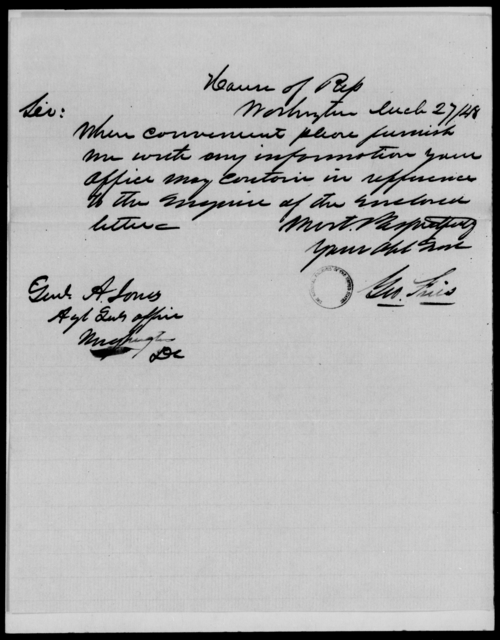 Hasson, William - State: [Blank] - Year: 1848 - File Number: H182