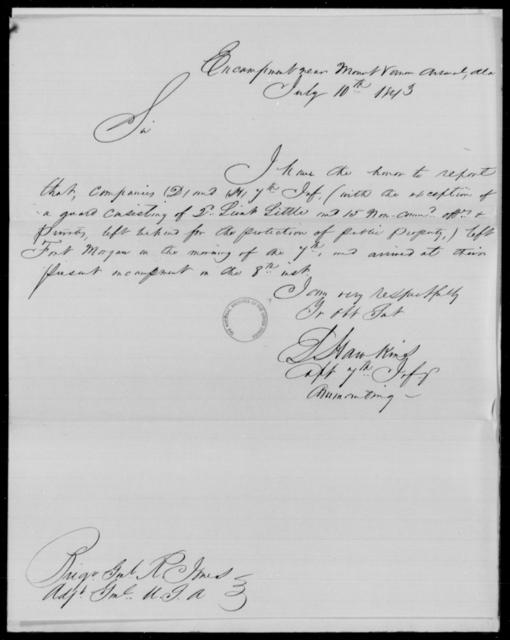 Hawkins, S - State: Alabama - Year: 1843 - File Number: H145