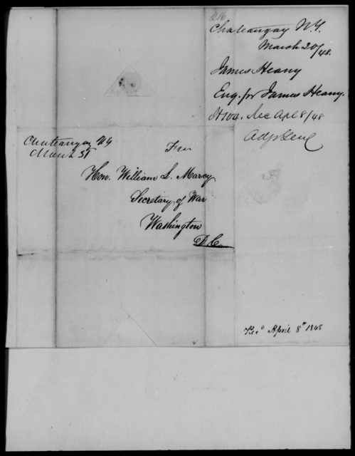 Heany, James - State: New York - Year: 1848 - File Number: H216