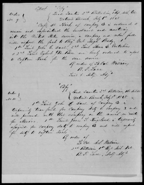Hicks, Daniel - State: Michigan - Year: 1848 - File Number: H198