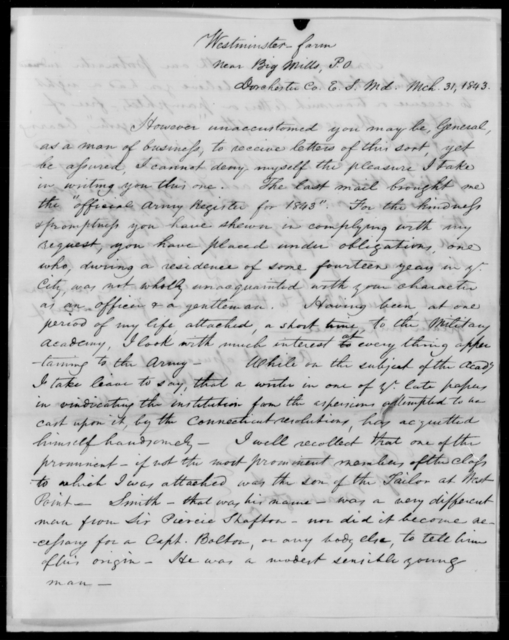 Hodson, Levin - State: Maryland - Year: 1843 - File Number: H64