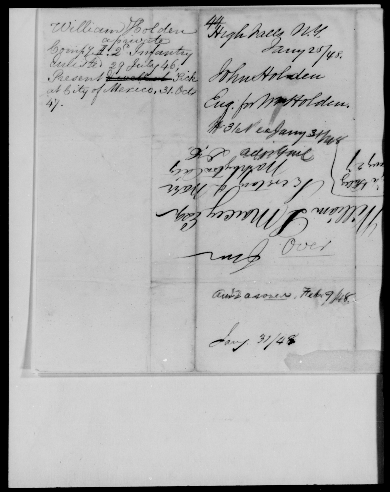 Holden, John - State: New York - Year: 1848 - File Number: H44