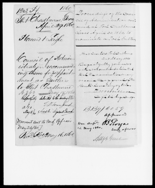 Howard, [Blank] - State: Texas - Year: 1860 - File Number: H125