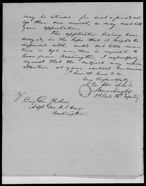 Hughes, James - State: [Blank] - Year: 1848 - File Number: H292