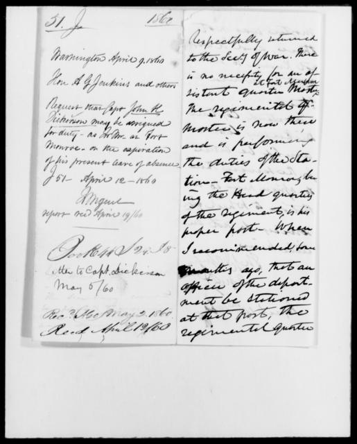 Jenkins, A G - State: Washington - Year: 1860 - File Number: J51