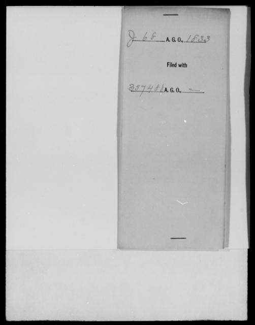 Jesup, [Blank] - State: [Blank] - Year: 1833 - File Number: J68