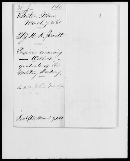 Jewett, D J Max Alex - State: Massachusetts - Year: 1860 - File Number: J30