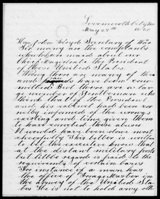 Jilbett, Joseph Frederick - State: Missouri - Year: 1860 - File Number: J72