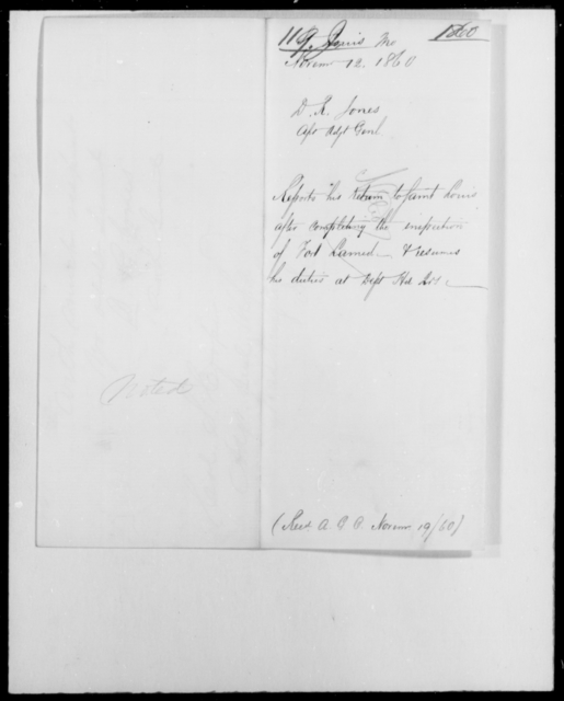 Jones, D R - State: Missouri - Year: 1860 - File Number: J119