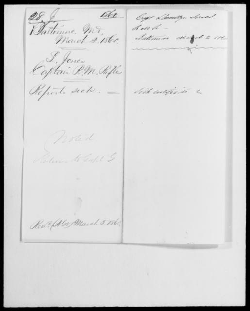 Jones, Llewellyn - State: Maryland - Year: 1860 - File Number: J28