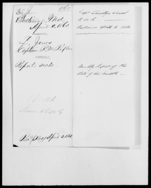 Jones, Llewellyn - State: Maryland - Year: 1860 - File Number: J35