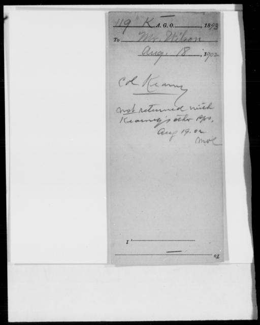 Kearney, S W - State: [Blank] - Year: 1843 - File Number: K119