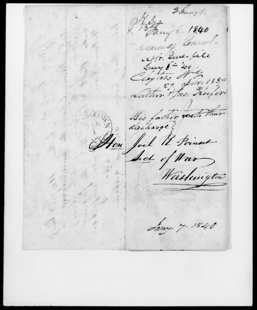 Keifer, Jno - State: New York - Year: 1839 - File Number: K137