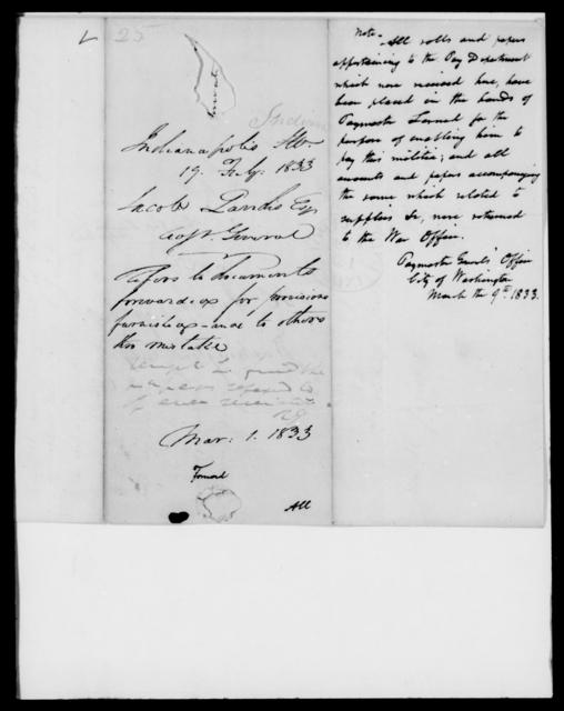 Landis, Jacob - State: [Blank] - Year: 1833 - File Number: L25