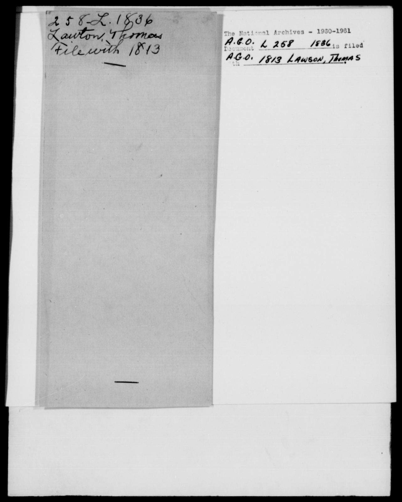Leadbetter, D - State: New York - Year: 1836 - File Number: L258