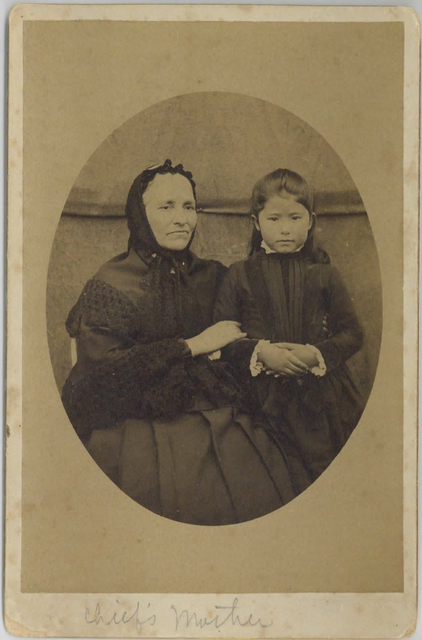 Loud 18, St. Paul Island chief's mother with young girl. Photograph by Gray & Hereford