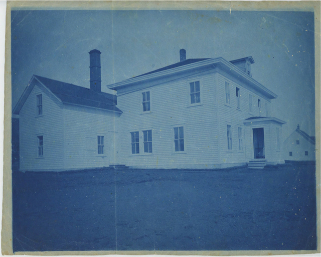 Loud 2, Company House on St. Paul Island, c. 1880s, Cyanotype