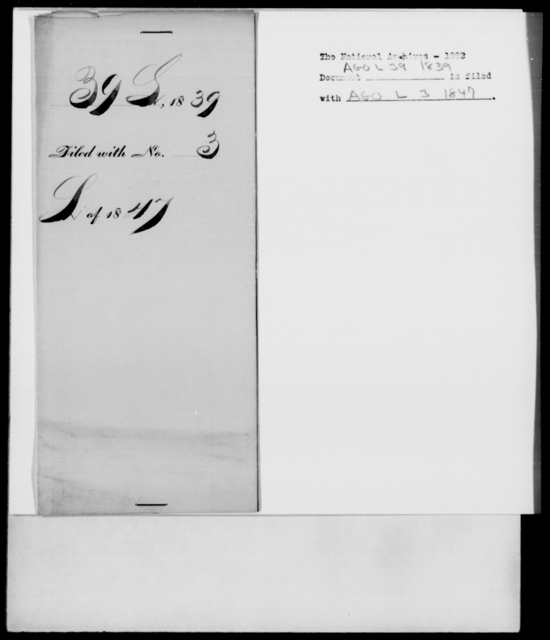 Lowd, Allen - State: New York - Year: 1839 - File Number: L39